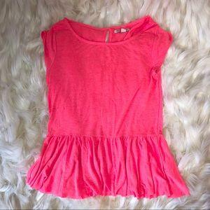 Women's Pink Flowy Top